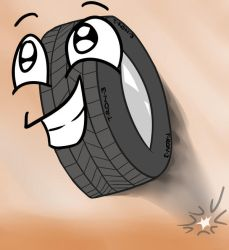 Tyrone - The Talking Tire by timsplosion