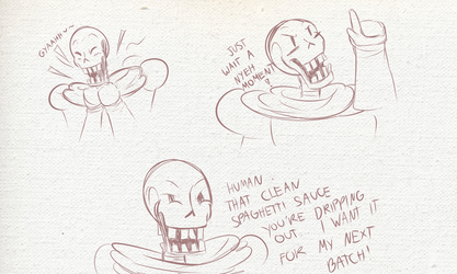 Horror Papyrus Rough Sketches by DeadIshael