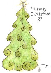 Tree Christmas Card by The-Tinidril