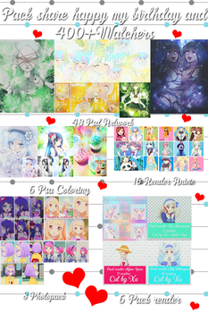 Pack share happy Xu's birthday and 400+Watchers by Xu-design-123