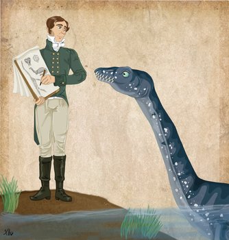 William Conybeare and his Plesiosaurus by Pelycosaur24