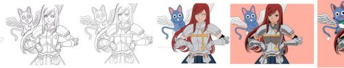 Step by step ERZA and Happy by ECVcm