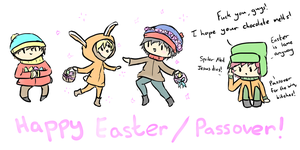 Happy Easter 2014 by MarshieMello-Cookies