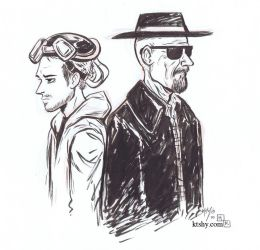Inktober 1: Breaking Bad by ktshy