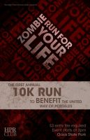 Zombie Run For Your Life Charity Poster by omegaarchetype