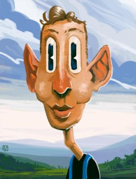 Ear-Guy with Golfball stuck in his throat by rammmon