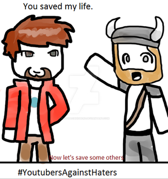 #YoutubersAgainstHaters Yogscast Lewis and Simon by ThePikachuishere