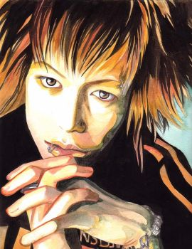 Kyo watercolors by spiderlady