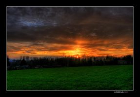 ostwestfalen sunset by jahno-pictures