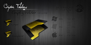 Yellow Empty Folder by Drawder
