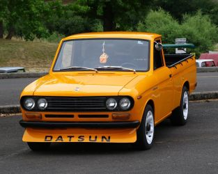 Restored Datsun pick-up truck by finhead4ever