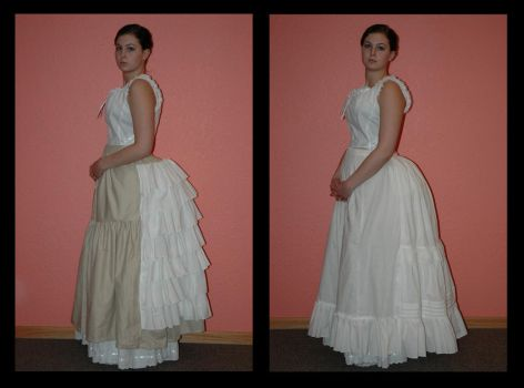 1880's Bustle and Petticoat by immortalphoenix
