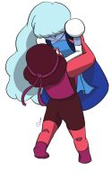 Ruby and Sapphire by dinogorawrrainbow