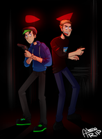 Pewds and Jack | Blood and Bacon by aileenarip