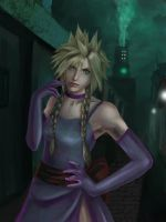 Cloud strife drag Final fantasy 7 Remake by Ralukiz