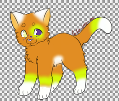 candy corn kitten (open) by skyfeather0066