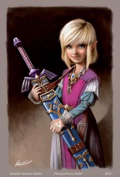 Young princess Zelda by ReevolveR