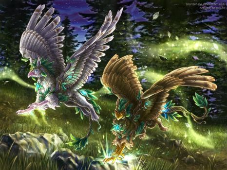 Druidic Gryphons by BronzeHalo