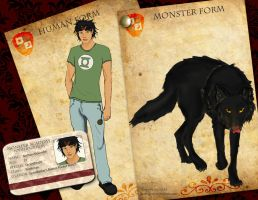 Nathan Alexander's Monster Academy Application by Knilheroshadow