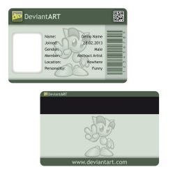 DeviantArt ID Card by nikiball1