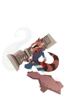 Rocket Raccoon by Tigerhawk01