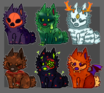 Spooky Halloween Puppers by galactic-fire-adopts