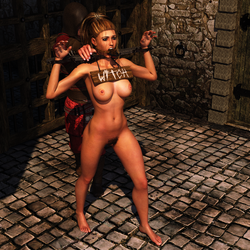 Pillory Challenge 1 - Witch by Dracis3D