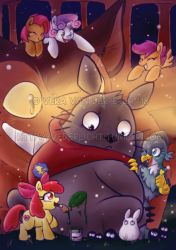 PRINT - CMC x Totoro Crossover by Genolover