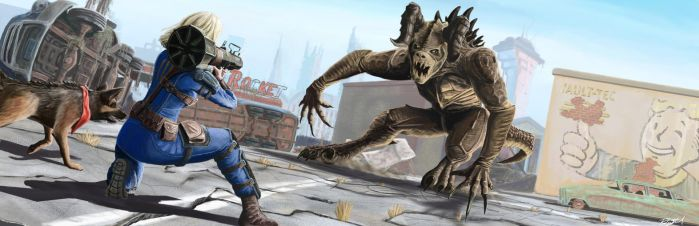 Fallout 4: Deathclaw by rustysteel