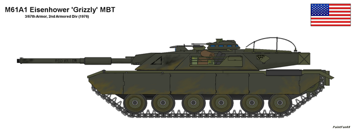 M61 Eisenhower 'Grizzly' MBT by PaintFan08