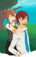 KH: Chiaki and Akio by Serenade-The-Wolf
