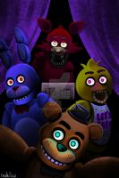 Freddy Fazbear and his friends! by redelisa