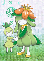 Seedrain Lilligant and Petilil