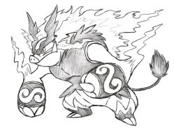 Project Fakemon: Mega Emboar by XXD17