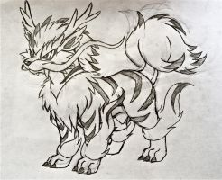 Project Fakemon: Mega Arcanine by XXD17