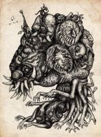 Monster No.24 : The deteriorate state of Ravana by atati23
