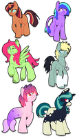.:MLP Adoptables - 1:. OPEN by Brishii