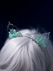 Crystals cat ears cosplay accessory by MoonDomeUk
