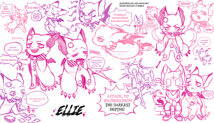 Sundown Panic sketchdump preview w/ Ellie by SUSHIROLLED