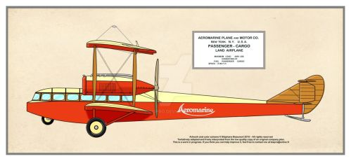 Aeromarine Passenger-Cargo Land Airplane by Bispro