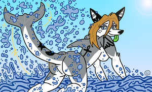 Wading Wolphin by UncleScooter