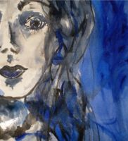 blue crazy face by shannonscott