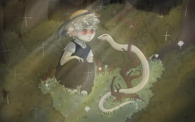 Kids, don't trust snakes by Rabbitsoo
