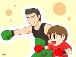 Little Mac and Villager by amito
