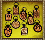Warcraft Keyrings by Isinglass-Industries
