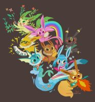 eevee band by tinysnail