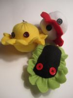 Germ Plushie Keychains by Ghost-Apple