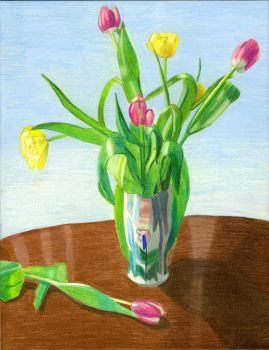 Vase of Flowers by Angelique-Mae