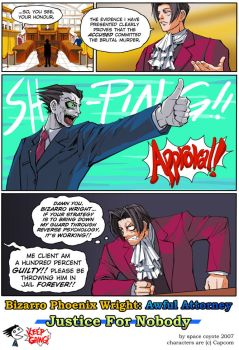 Bizarro Phoenix Wright by spacecoyote