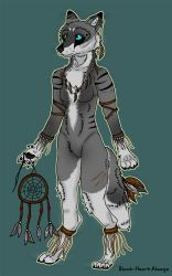 Tribal Wolf Adoptable - SOLD! by Black-Heart-Always